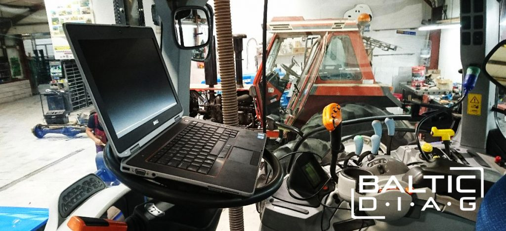 Our client use diagnostic tool with various heavy machines